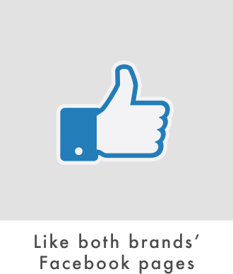 Like both brands' Facebook pages