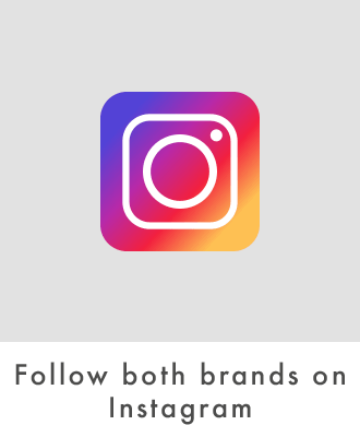 Follow both brands on Instagram
