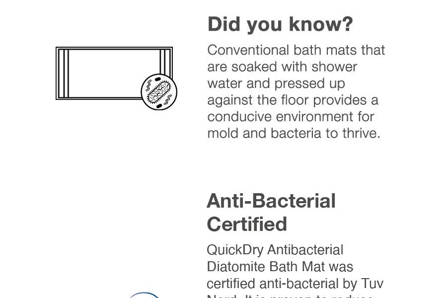 Quickdry Antibacterial Diatomite Bath Mat