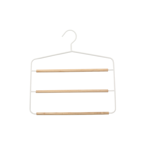 Scandi Wooden 3-Tier Pants Hanger