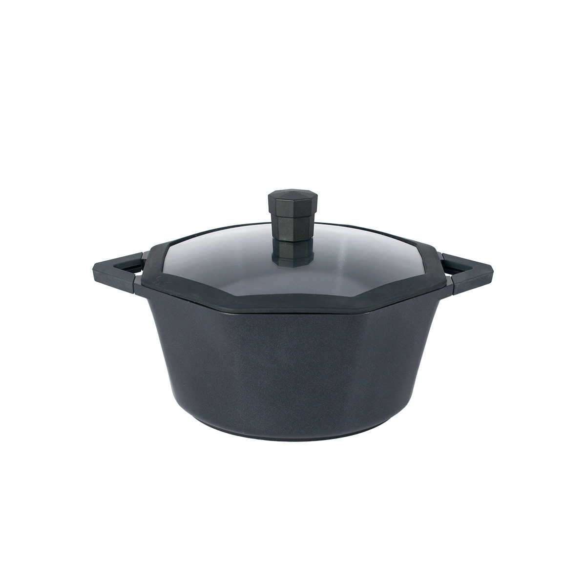 Octagon Non-Stick Stock Pot With Lid
