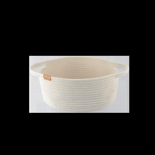 Cotton Woven Storage Basket (M)