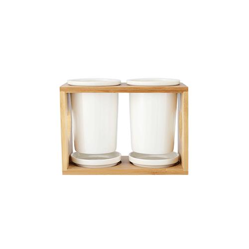 Ceramic Cutlery Storage (Set Of 2)