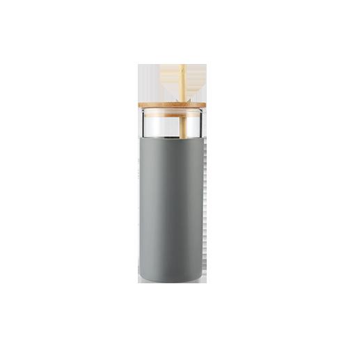 Borosilicate Glass Tumbler With Straw